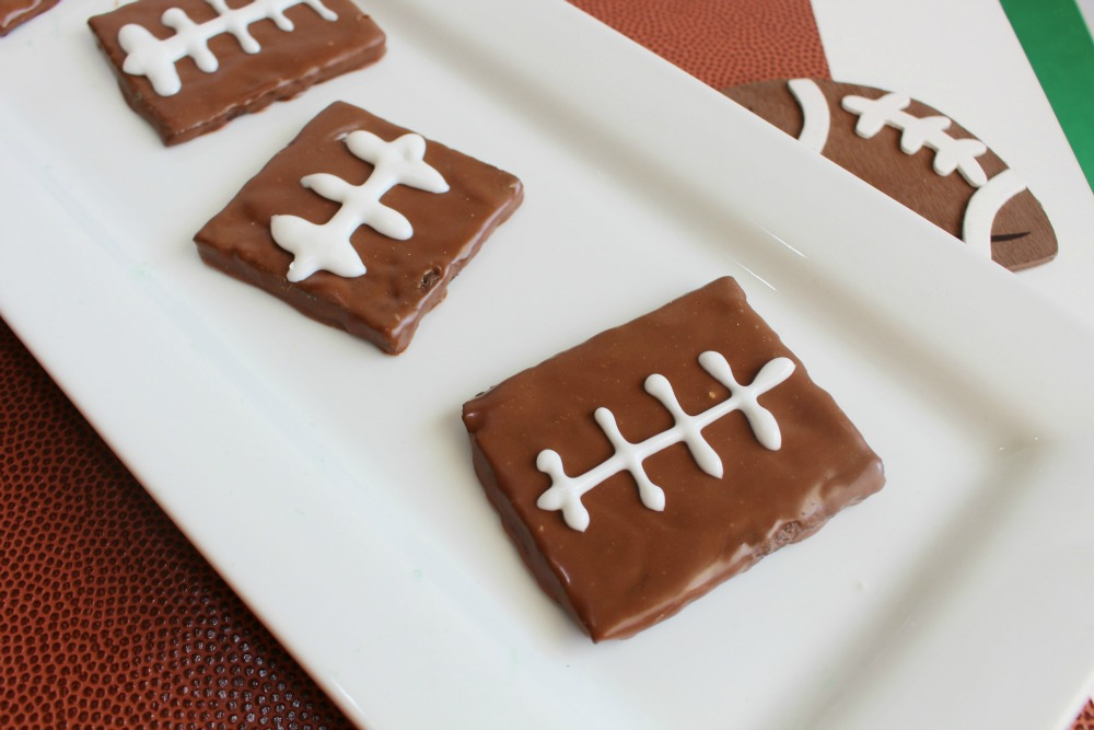 Chocolate Football Graham Cracker Dessert Idea