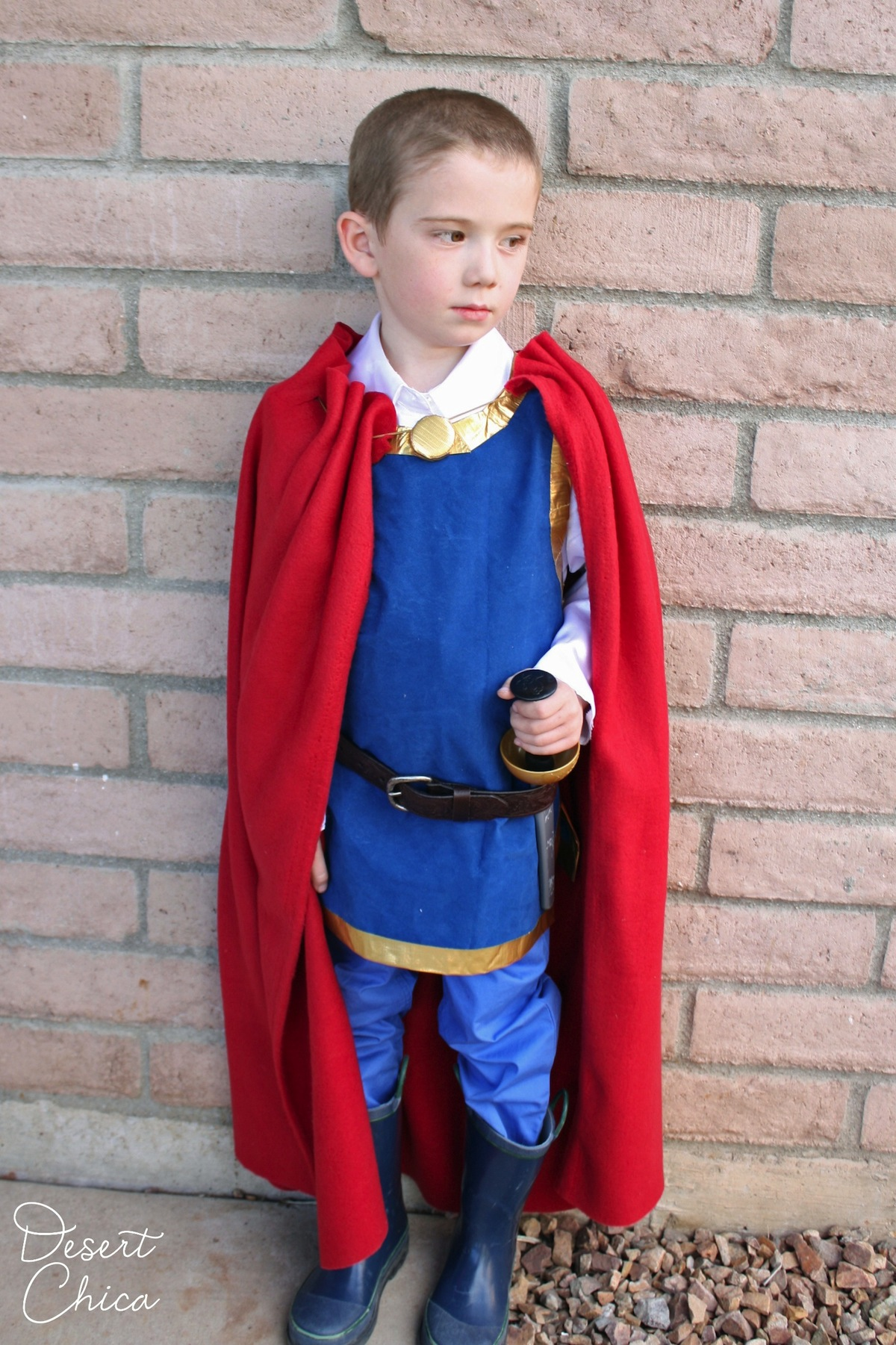 DIY no-sew Snow White Prince costume!