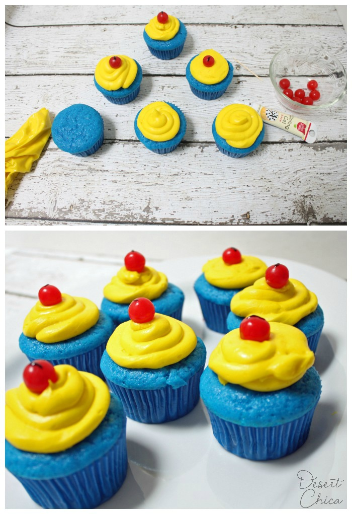 Easy Snow White Inspired Cupcake Recipe Ingredients