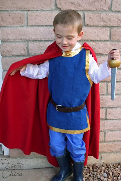 No Sew Snow White Prince Costume