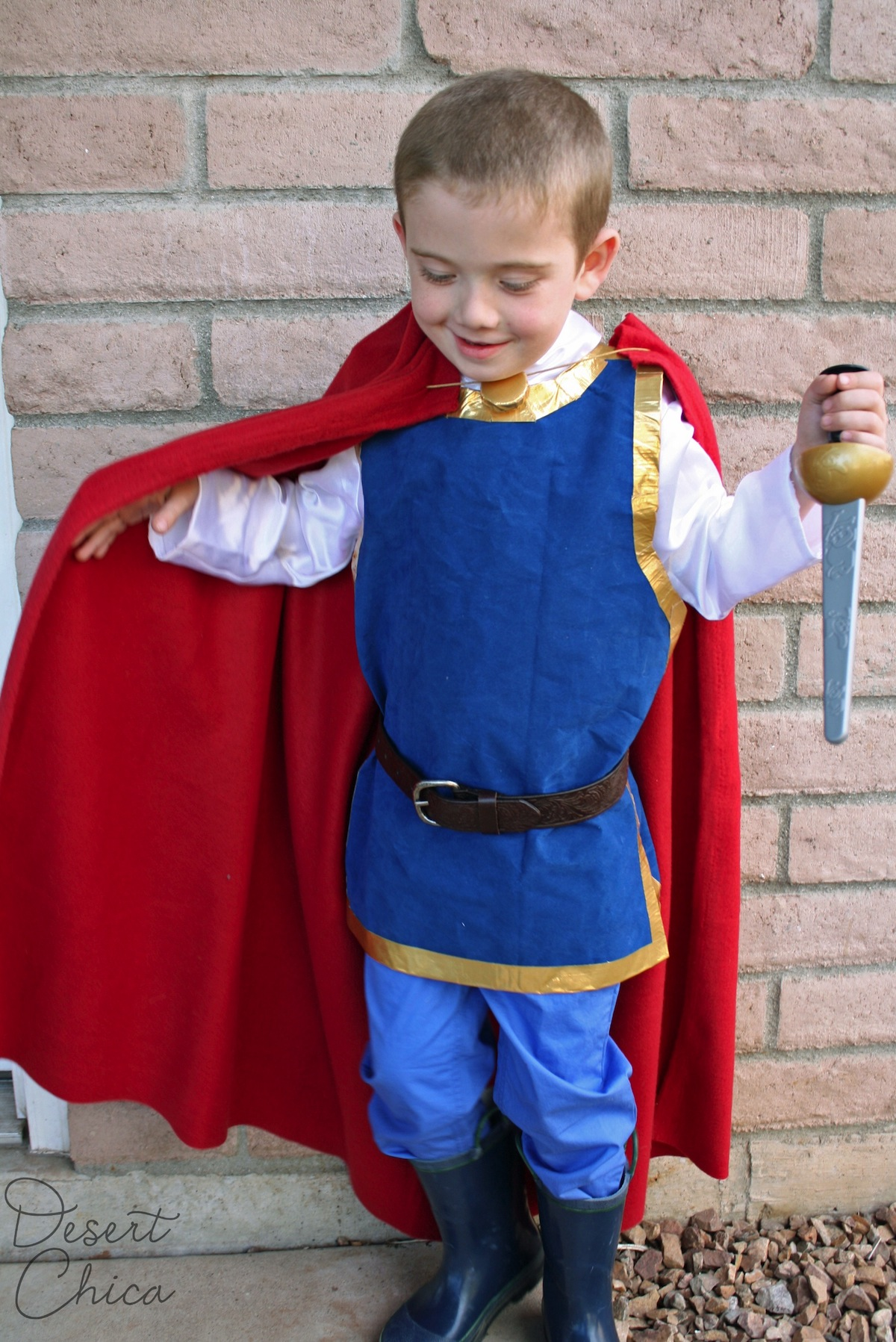 No Sew Snow White Prince Costume