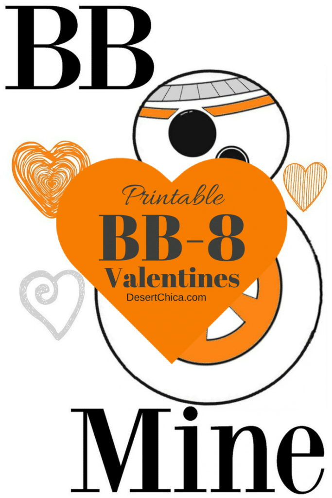 Screen shot of printed BB8 Valentine printable that you can download.