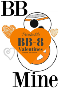 Printable Star Wars BB-8 Valentines