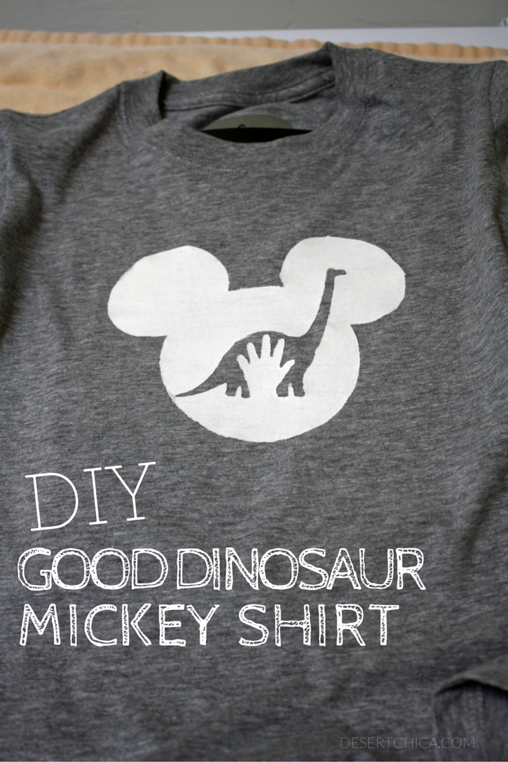 DIY Good Dinosaur Mickey Shirt