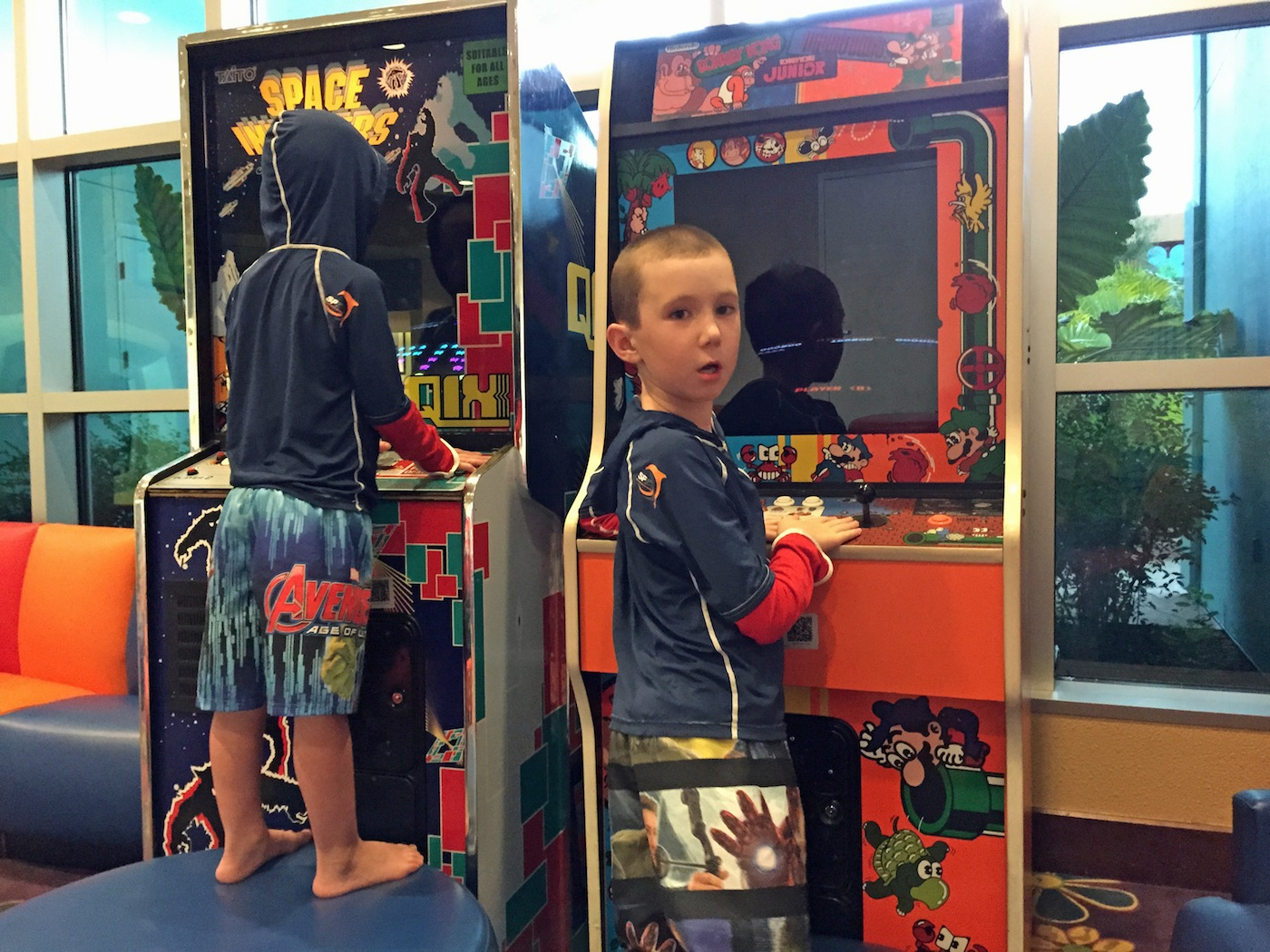 Free Arcade Games at Pop century lobby