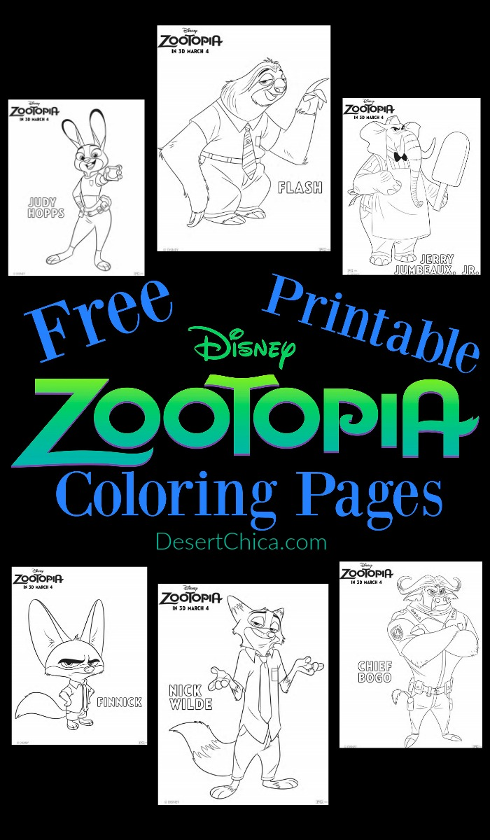 Free Printable Disney Zootopia Coloring Pages