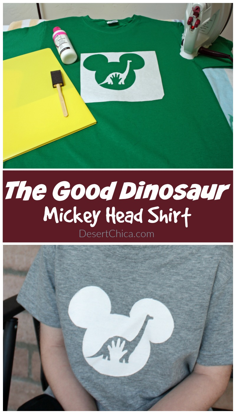Good Dinosaur Shirt with template