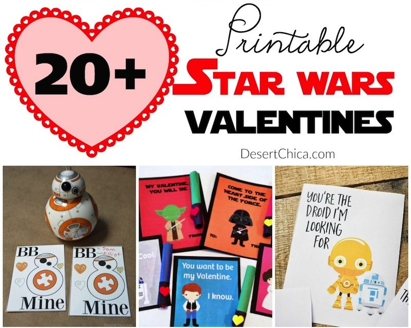 graphic regarding Printable Star Wars Images called 20+ Printable Star Wars Valentines Desert Chica