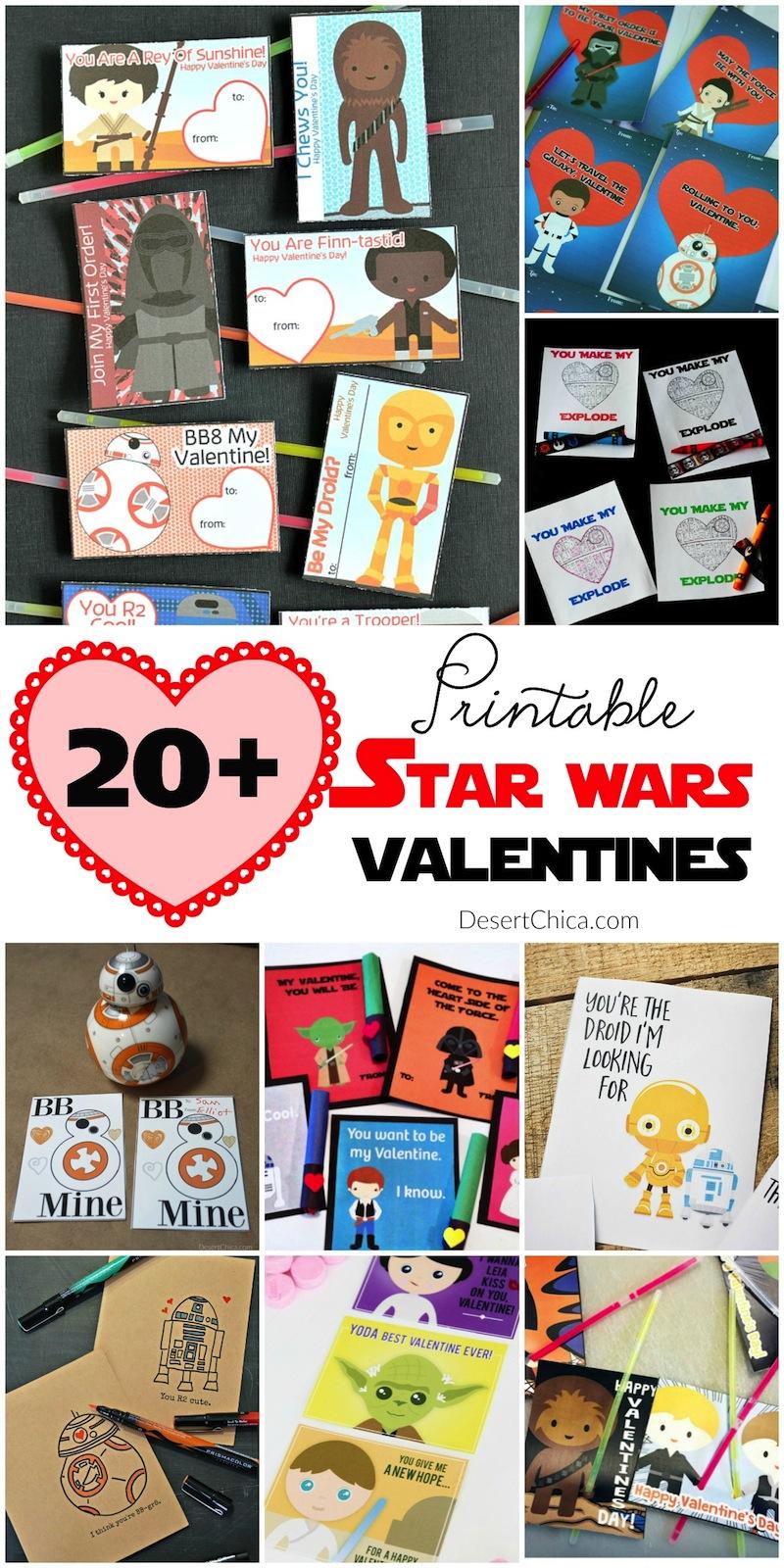 Printable Star Wars Valentines Round Up
