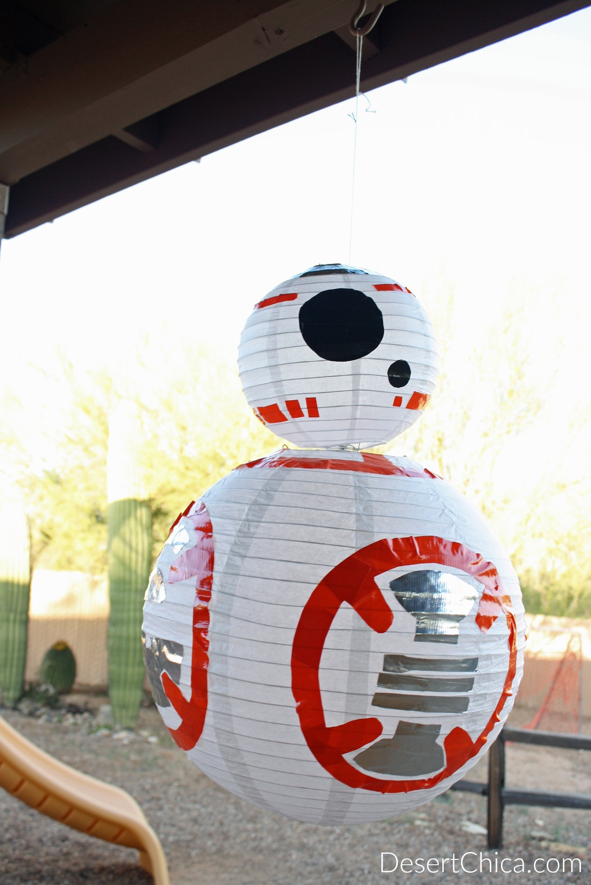 How to Make a BB-8 Paper Lantern craft