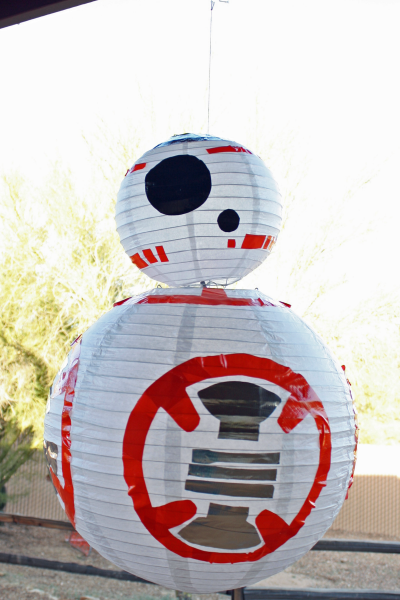 How to Make a Star Wars BB-8 Paper Lantern