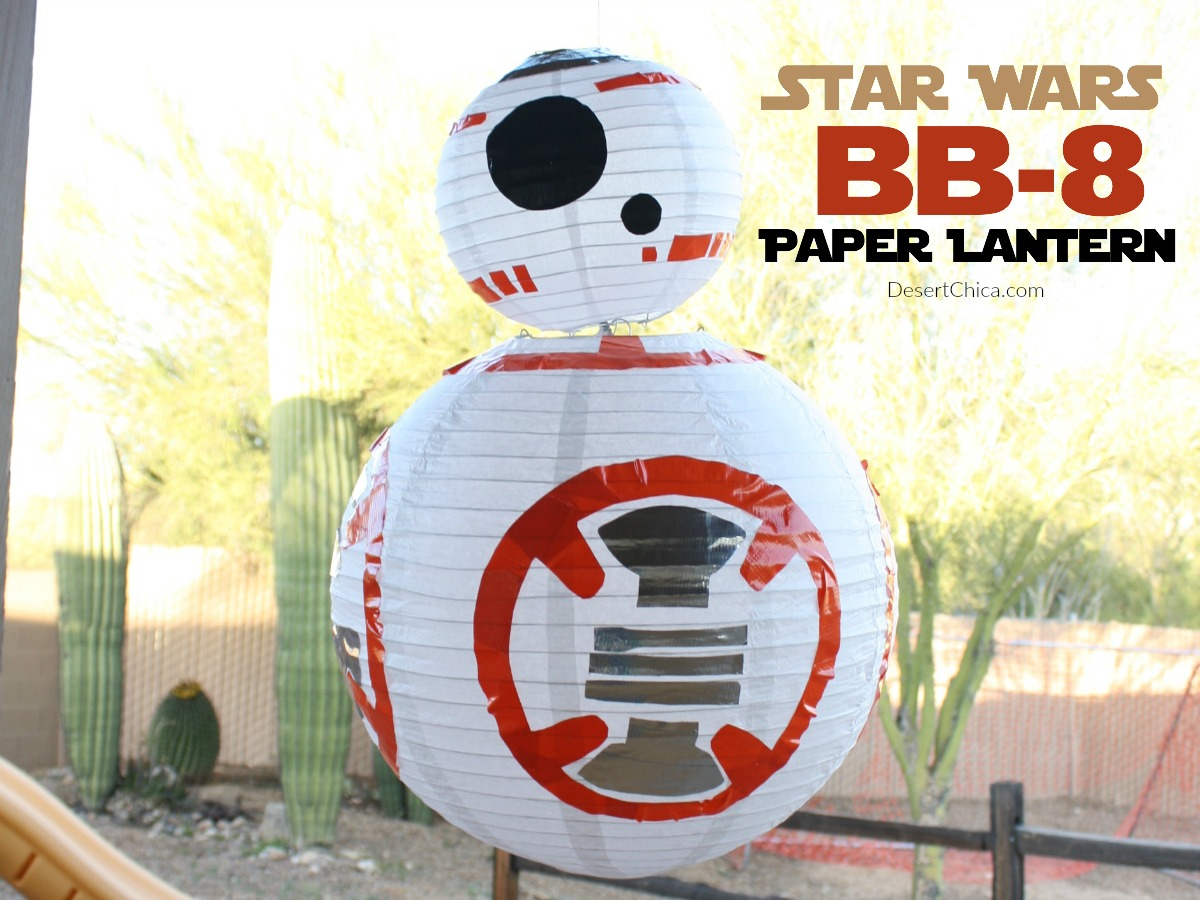 How to make a DIY Star Wars BB-8 Paper Lantern craft