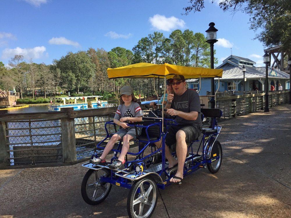 Surrey Bikes at Port Orleans Riverside Review