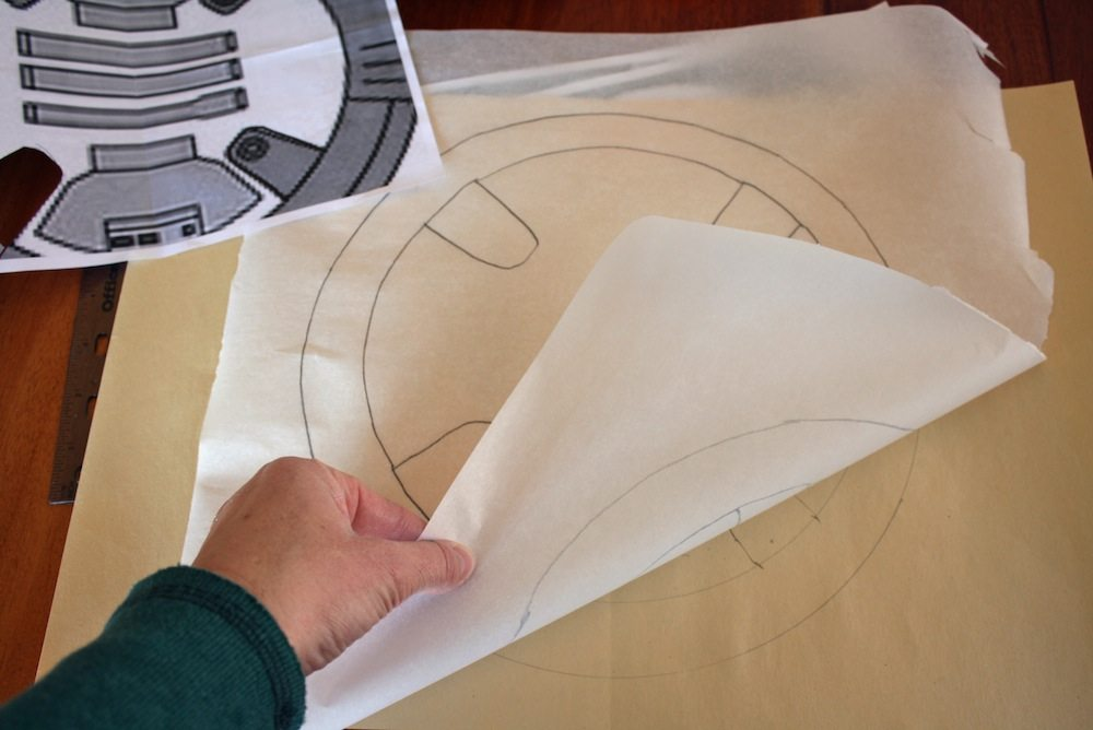 Trace BB-8 Pattern to create a template