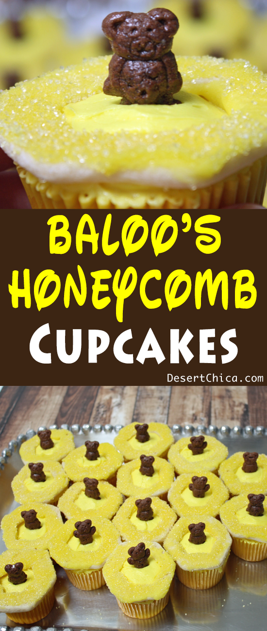 Baloo's Honeycomb Cupcakes for The Jungle Book
