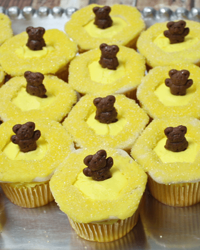 Baloo's Honeycomb Jungle Book Cupcakes