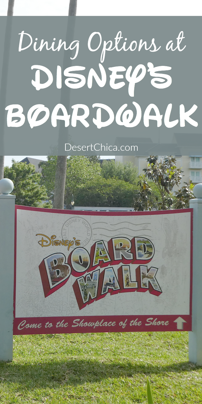 Check out the food options at Disney's Boardwalk including resort restaurants with plenty of things to do along the boardwalk, perfect for a night on the town in Orlando or after visiting Epcot or Disney's Hollywood Studios.