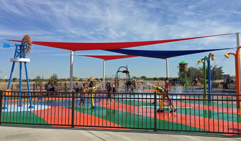 Gladden Farms Splash Pad in Marana