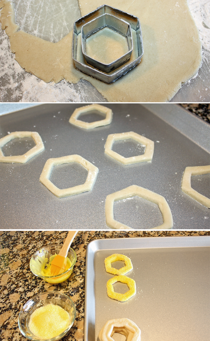How to Make Hexagon Honeycomb Cookies
