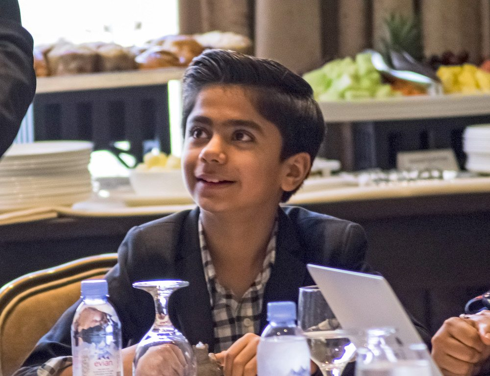 """BEVERLY HILLS - APRIL 04 - Actor Neel Sethi during the """"The Jungle Book"""" press junket at the Beverly Hilton on April 4, 2016 in Beverly Hills, California. (Photo by Becky Fry/My Sparkling Life for Disney)"""