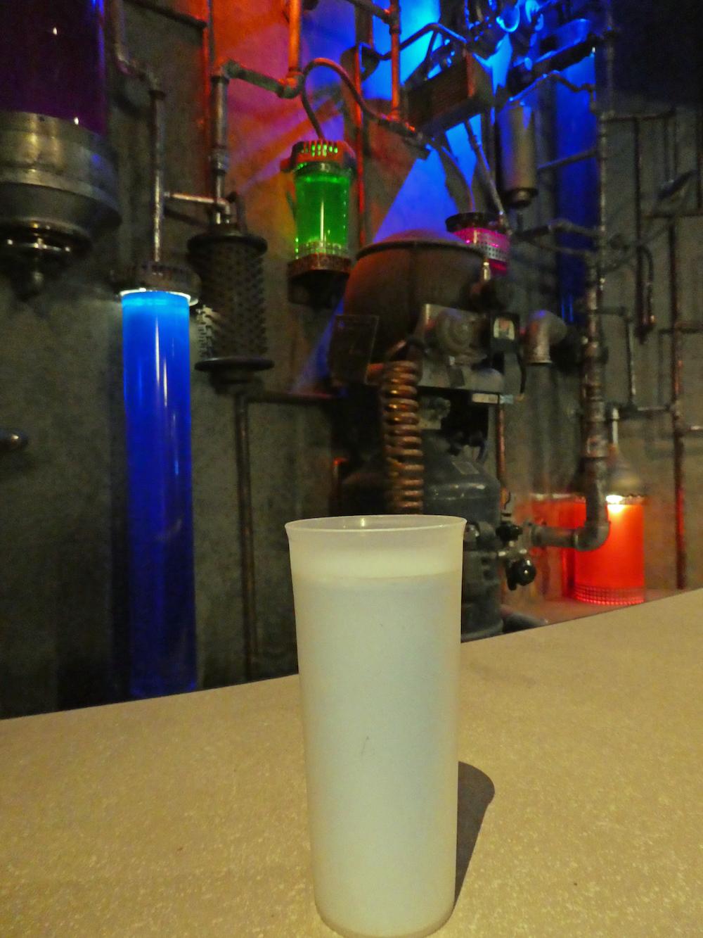 Blue Bantha Milk at Cantina in Star Wars Launch Bay