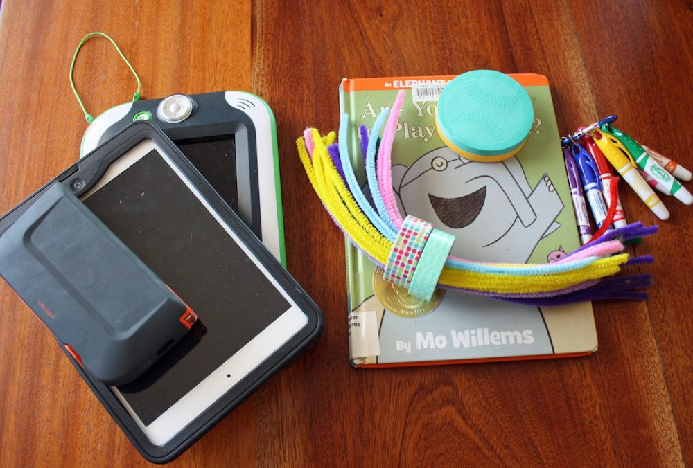 Low tech and electronic fun are road trip essentials