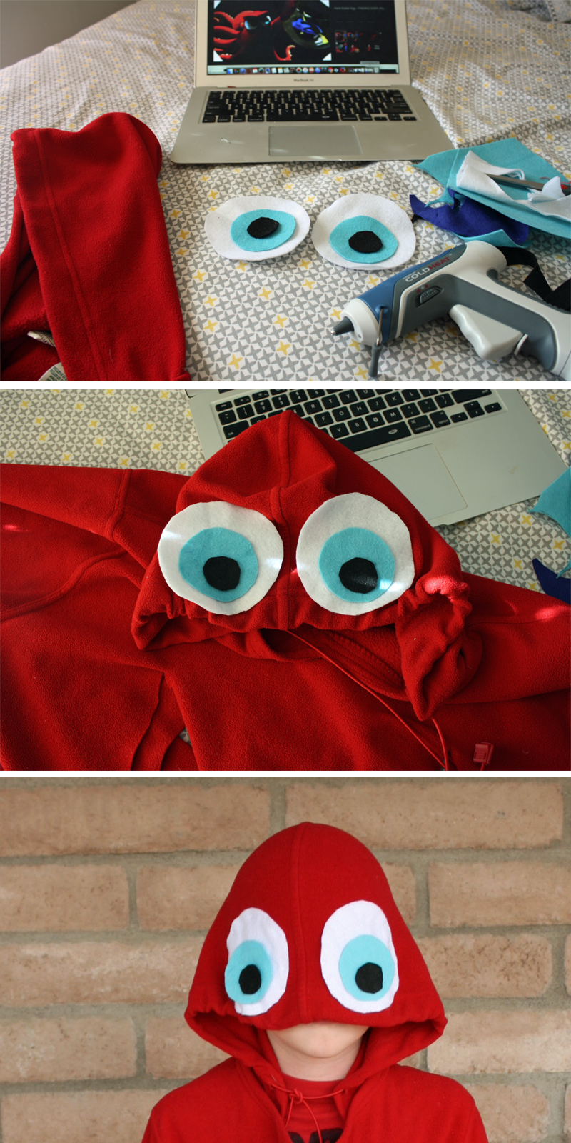 Add eyes to the Hank the Octopus Finding Dory Costume