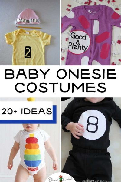 4 different baby costumes