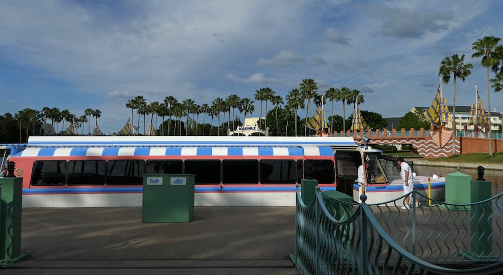 Boat Transportation to Epcot and Hollywood Studios from Swan and Dolphin