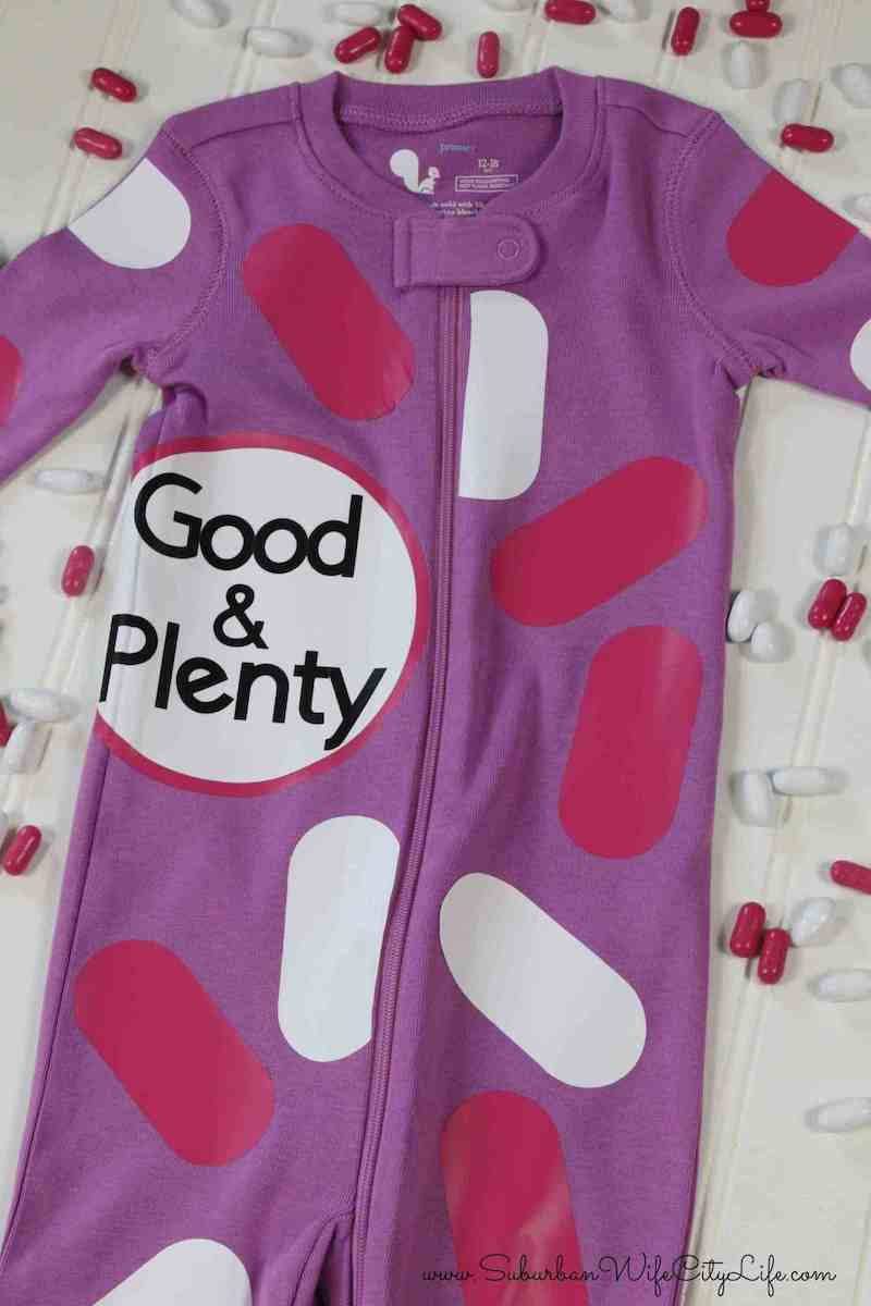 Good and Plenty Candy Baby Onesie Costume