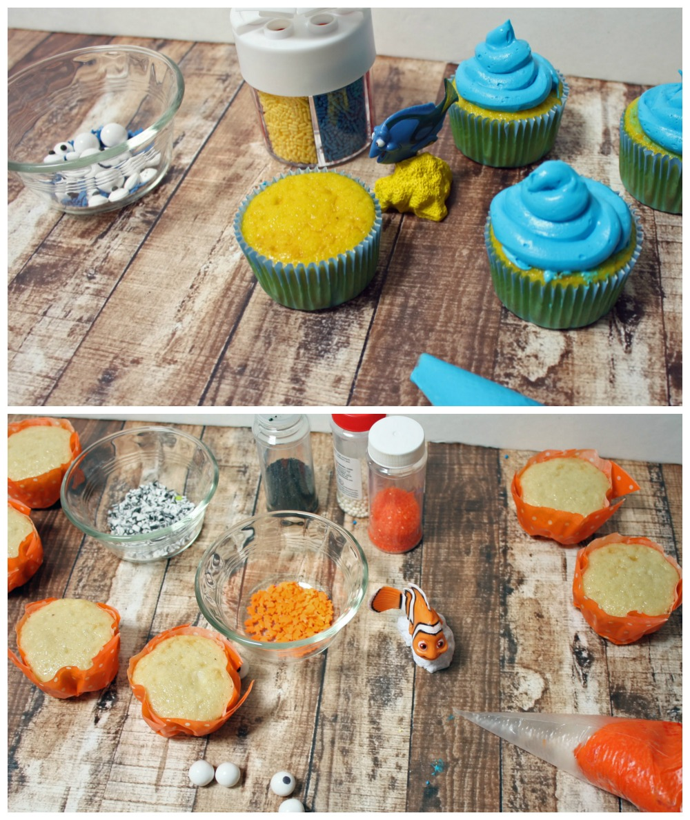 Finding Dory Cupcake Ingredients