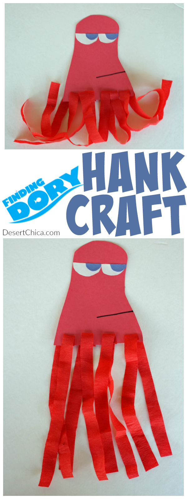 Finding dory craft hank the octopus desert chica for Finding dory crafts for preschoolers