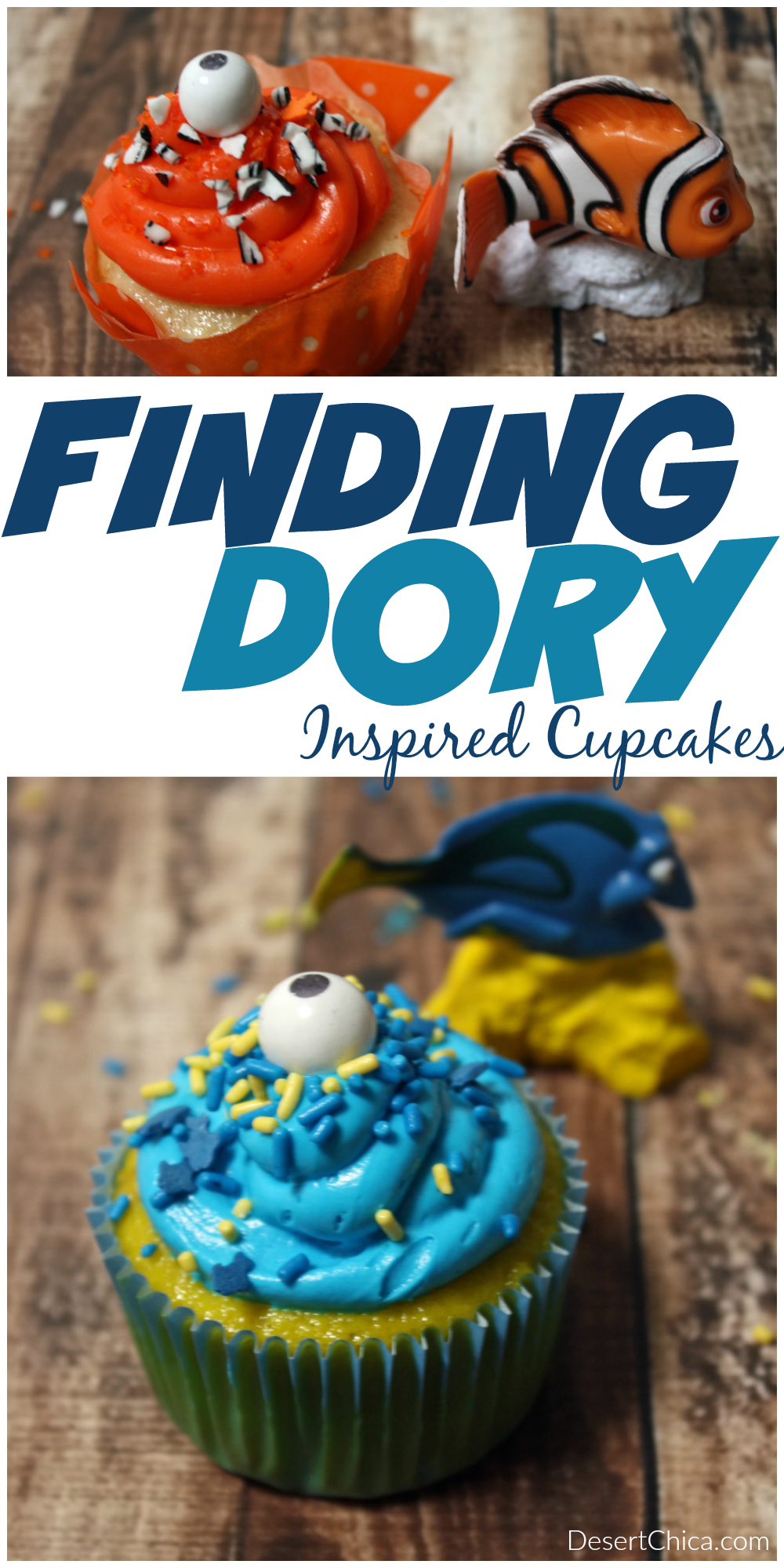 Finding Dory Inspired Cupcakes