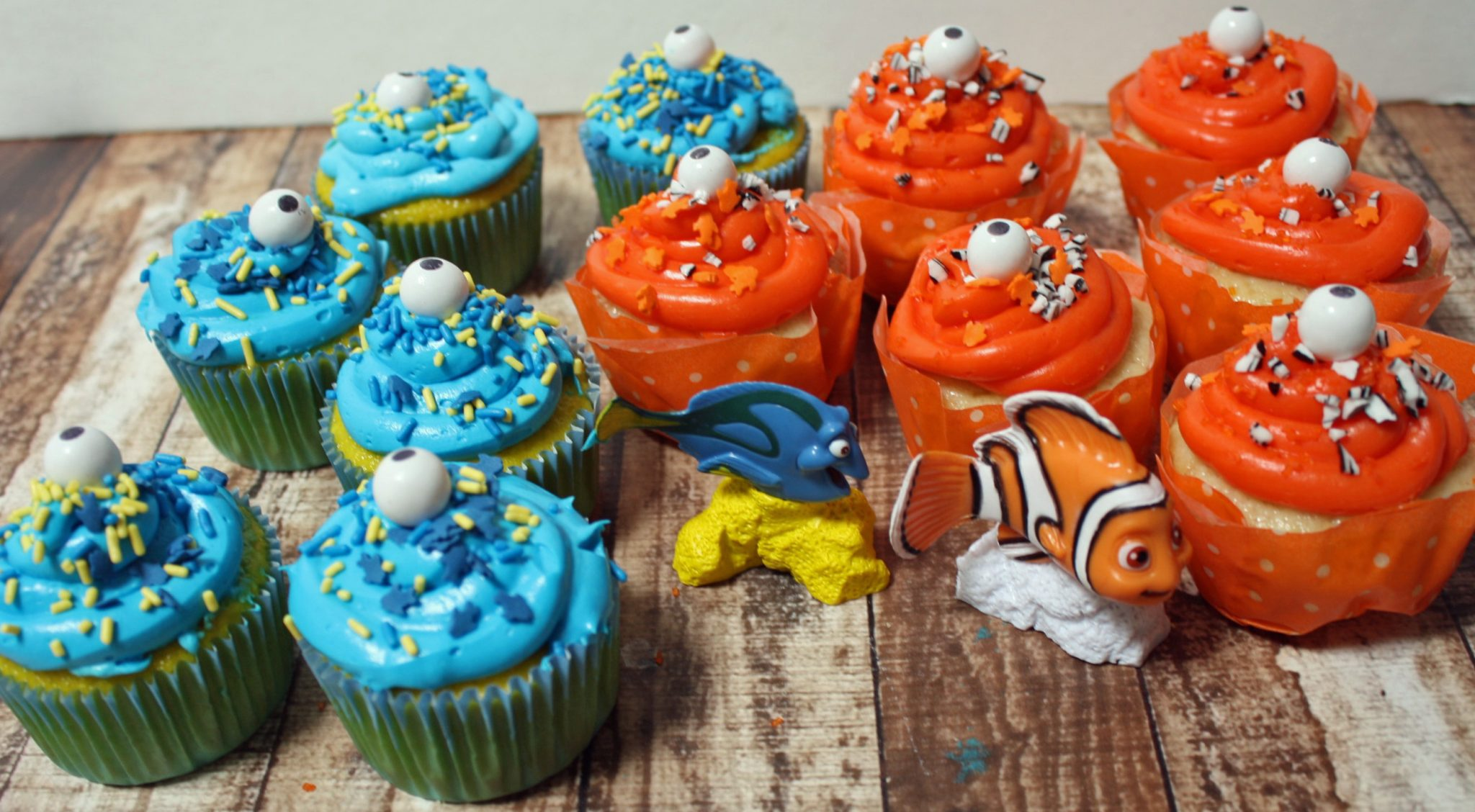 Finding Dory Party Cupcakes
