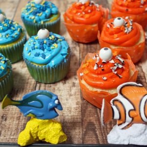 Finding Dory Cupcakes