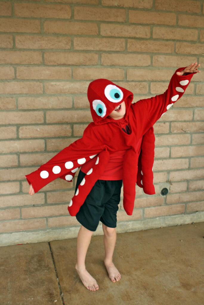 red octopus costume