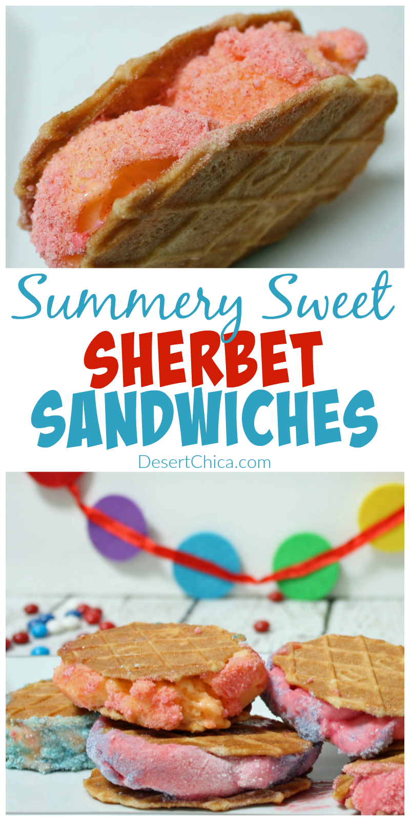 How to make summery sweet sherbet sandwiches