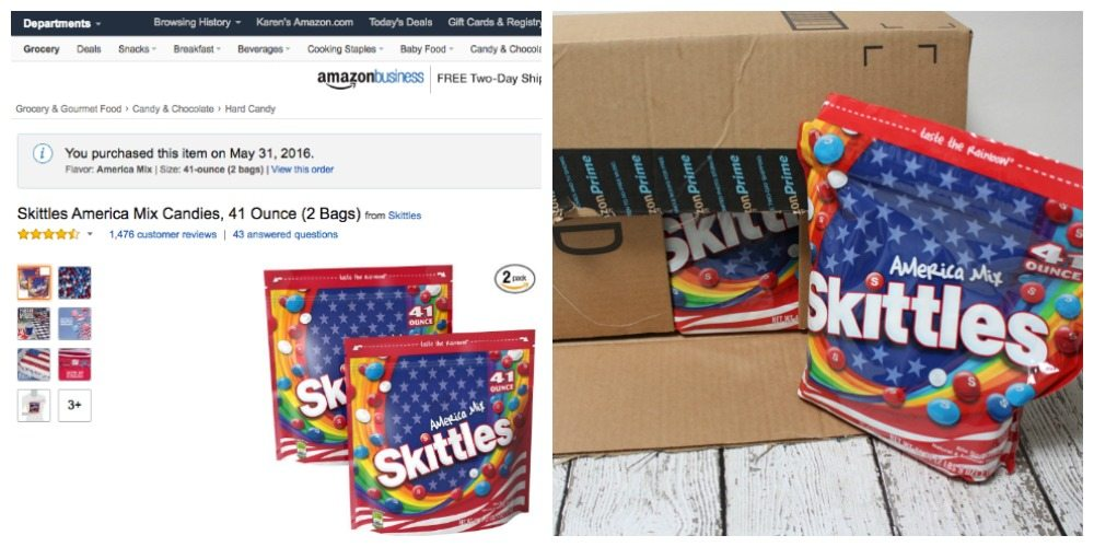 Limited Edition Skittles America Mix on Amazon Prime