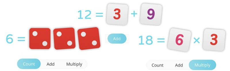 OSMO Numbers for counting, adding and multiplying