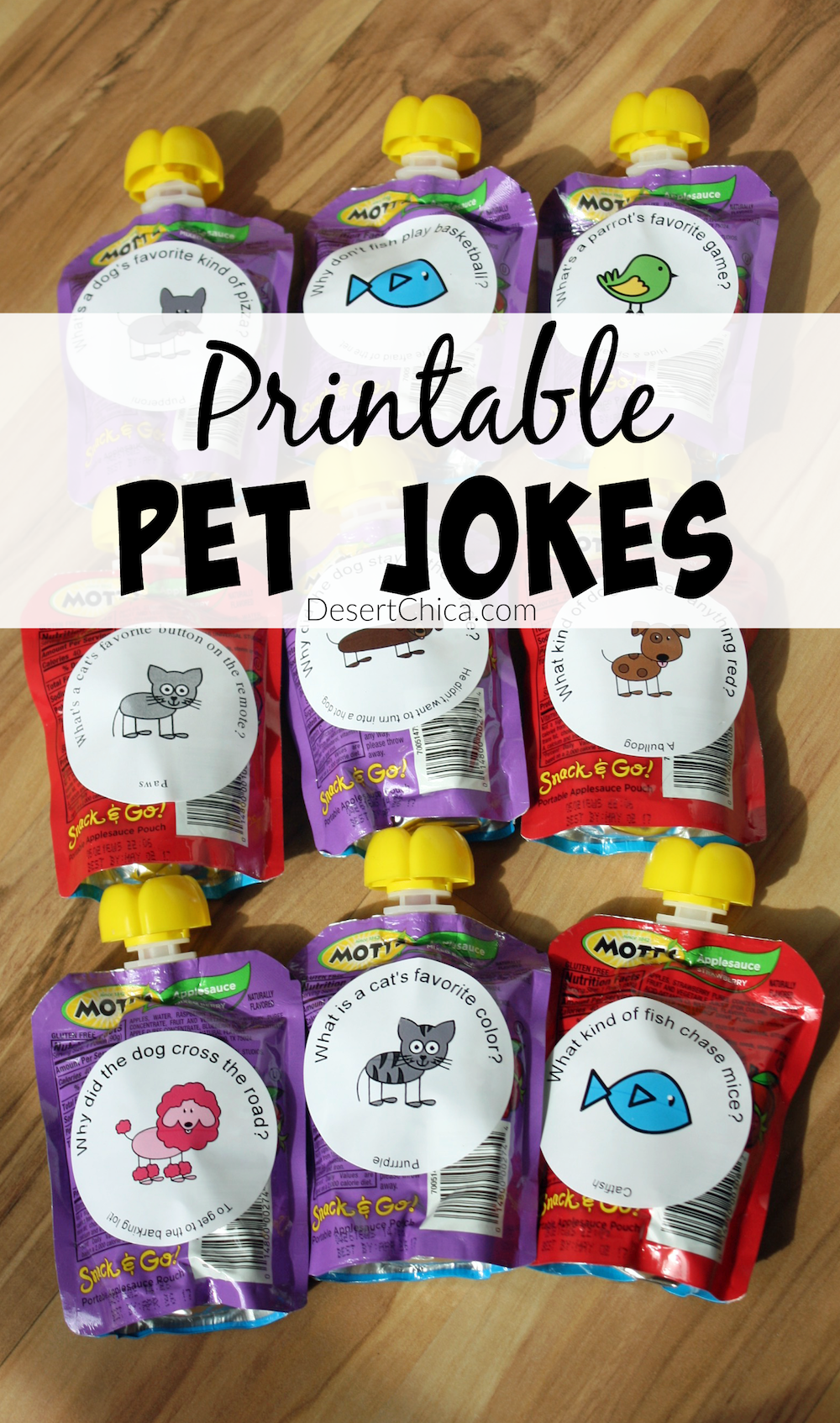 Printable Pet Jokes for a Pet themed party