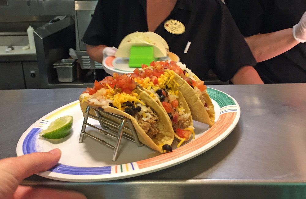 Taco Plate from Picabu at Walt Disney World Dolphin Resort