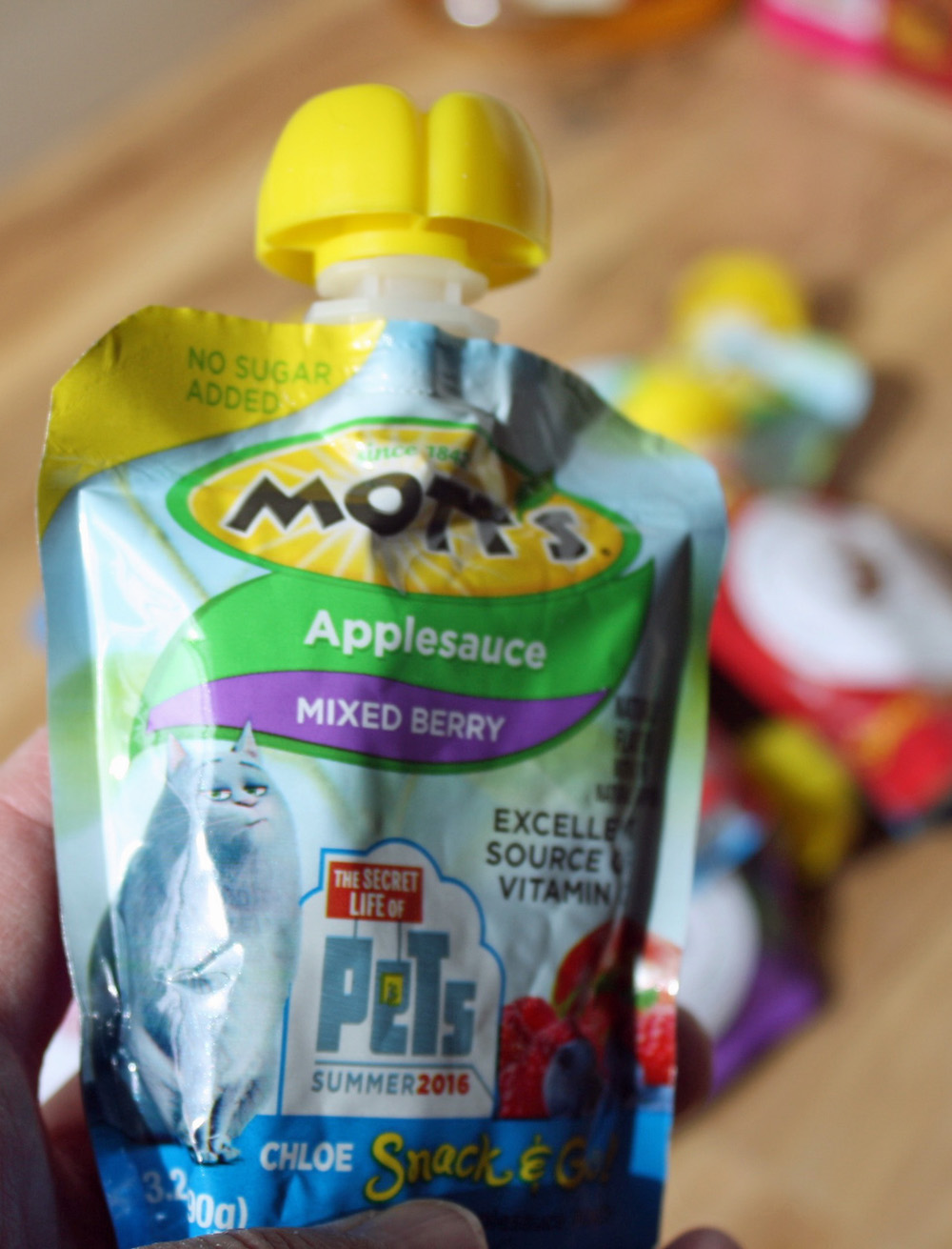 The Secret Life of Pets Motts Apple Sauce Packaging