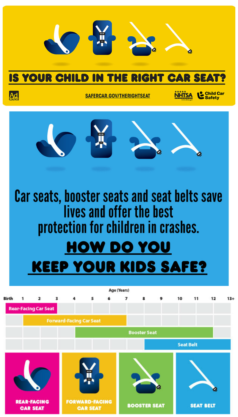 Is your child in the right car seat Learn more about car seats, booster seats and seat belts. Keep your kids safe!