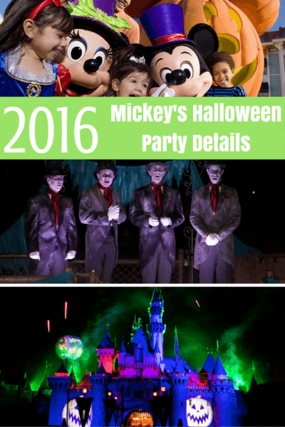 Mickey's Halloween Party 2016 Dates