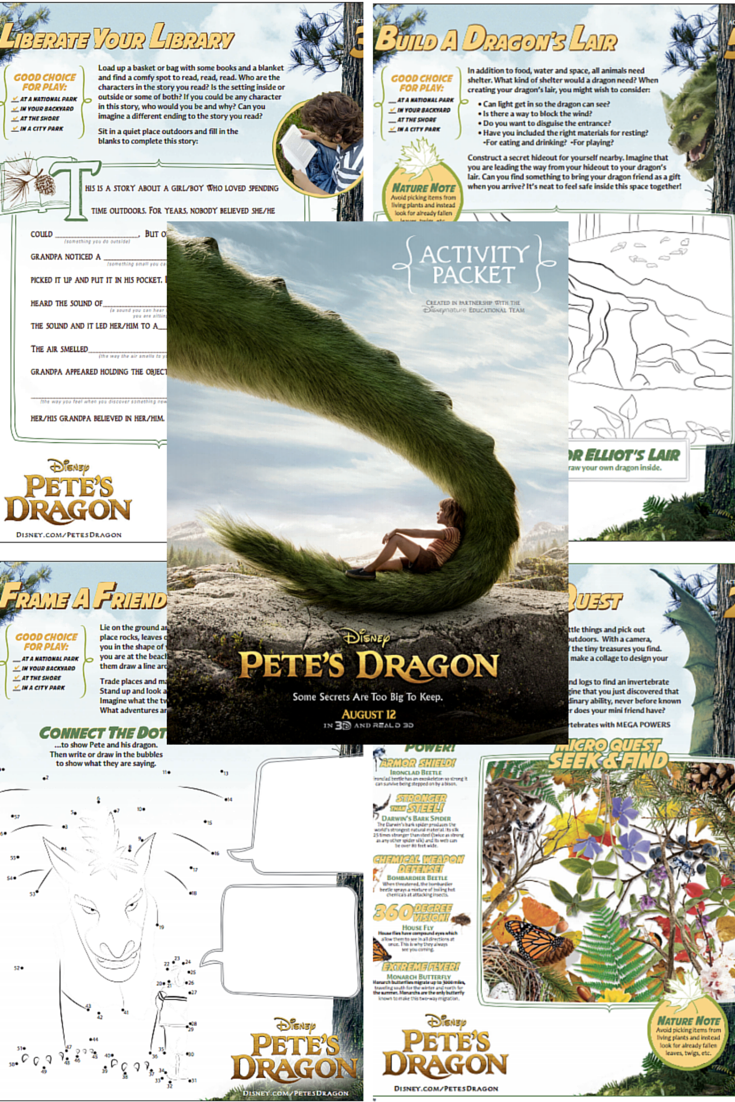 Pete's Dragon Activity Packet