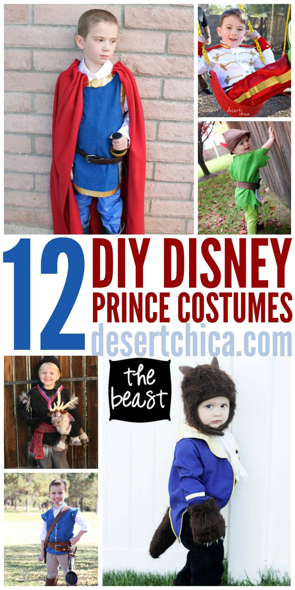 How to make DIY Disney Prince Costumes for Halloween or Disney World trips!