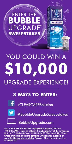 Clear Care Bubble Upgrade Sweepstakes