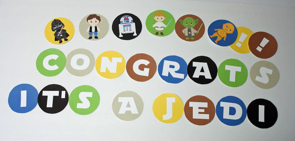 Congrats Itu0027s A Jedi Star Wars Banner