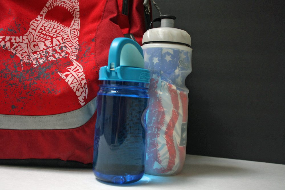 Double water bottles for extra hydration at school