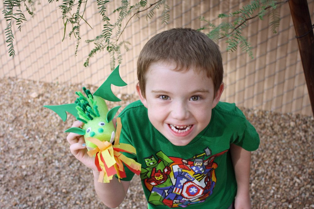 Elliot with Elliot, Pete's Dragon Craft